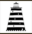 cute cartoon striped lighthouse isolated on white vector image