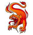 Fire Dragon vector image