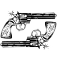 Hand guns vector image