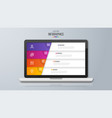 infographic design on the laptop screen 4 option vector image
