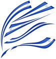 israel flag set on white background vector image