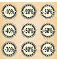 Vintage label sales and discount vector image
