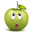 wondering apple smiley vector image vector image