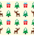 Christmas background - seamless pattern vector image