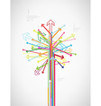Colorful arrow tree created with place for your vector image