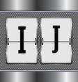 alphabet of mechanical vector image