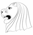 lion face tattoo vector image