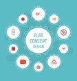 flat icons purchase shopping bag and other vector image