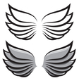 set two pairs of wings Black and colored vector image vector image