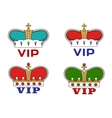 Crowns with VIP sign vector image