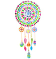 Watercolor Dreamcatcher vector image vector image