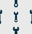 Wrench key sign icon Service tool symbol Seamless vector image