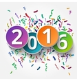 Happy 2015 new year with confetti vector image