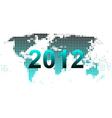 world map 2012 vector image