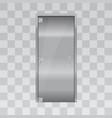 aluminium door and chrome door vector image