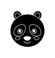cute animal panda bear head baby vector image