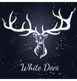 deer White silhouette vector image