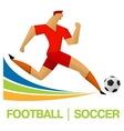 flat icon games soccer vector image