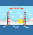 Flat style golden gate bridge vector image