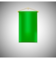 Green pennant on white background vector image