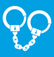 handcuffs icon white vector image