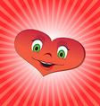 Heart girl character vector image