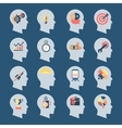 Idea Head Icons vector image