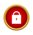 Lock icon simple style vector image