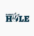 rabbit hole logo vector image