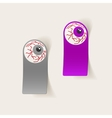 realistic design element eye vector image