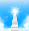 The stairway to heaven vector image