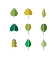 Green leaves simple icons vector image vector image