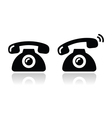 Ringing phone - contat icons set vector image