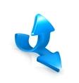 Emblem of blue arrows vector image vector image