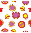 Sticker pattern cartoon style vector image