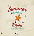 summer sand background 2 vector image vector image