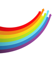 Background with rainbow lines with arrows vector image vector image