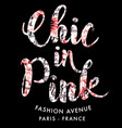 chic in pink fashion vector image