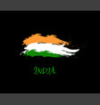 Independence day of india hand drawn sign on black vector image