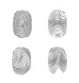 fingerprint in black silhouette on white vector image