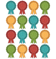 christmas rosettes vector image