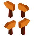 3d design for wooden sign vector image