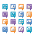 phone performance and office icons vector image vector image