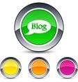 Blog round button vector image