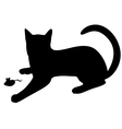 cat mouse vector image