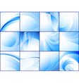 collection of blue abstract backgrounds vector image