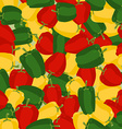 Coloured sweet pepper pattern Seamless background vector image