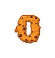 number 0 cookies font oatmeal biscuit alphabet vector image