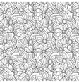Seamless Monochrome Floral Pattern vector image