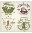 Farm Retro Style Logos vector image